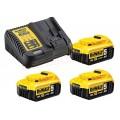 Акумулаторна батерия 3бр + зарядно у-во 18 V / 5Ah  Dewalt