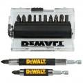 Накрайници за ударен винтовер и 2 бр приставки к-т 14 бр Dewalt