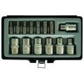 """Вложки E-TORX и накрайник за TORX къси 1/2""""  к-т 14бр FORCE"""