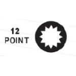 """Вложка удължена 1/2"""" 21mm 12-ст TopMaster"""