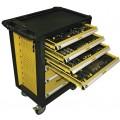 Количка за инструменти с 7 чекмеджета 220 части TopMaster